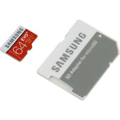 Карта памяти Samsung 64GB EVO+ microSDXC Class 10 MB-MC64DA/RU