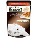 Паучи Gourmet Alcte для кошек кусочки в подливе говядина/овощи 85г (упак. 24 шт) (12242376)