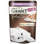 Паучи Gourmet Alcte для кошек кусочки в подливе домашняя птица/овощи 85г (упак. 24 шт) (12266707)