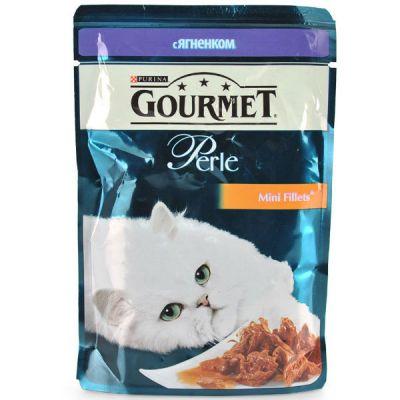 Паучи Gourmet Перл для кошек Ягненок 85г (упак. 24 шт) (12215290)