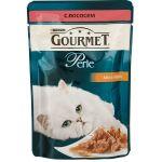 Паучи Gourmet Перл для кошек кусочки в подливе Лосось 85г (упак. 24 шт) (12222480)