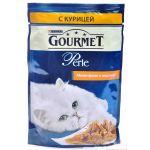 Паучи Gourmet Перл для кошек кусочки в подливе Курица 85г (упак. 24 шт) (12222445)
