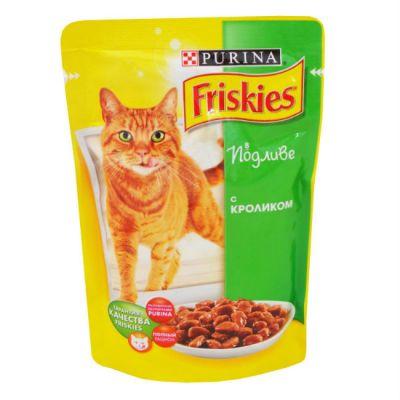 Паучи Friskies Adult для кошек с кроликом в подливе 100гр (упак. 20 шт) (12227705)