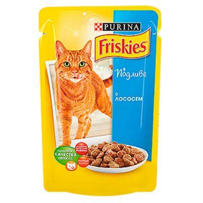 Паучи Friskies Adult для кошек с лососем в подливе 100гр (упак. 20 шт) (12239320)
