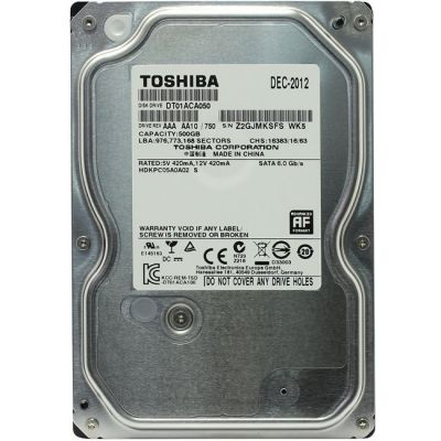 """������� ���� Toshiba SATA III 500Gb 3,5"""" DT01ACA050"""