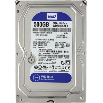 """������� ���� Western Digital SATA3 500Gb Caviar Blue 16Mb 3.5"""" WD5000AAKX"""