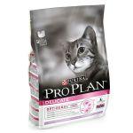 Сухой корм Proplan для кошек с чувствительным пищеварением индейка/рис 1,5 кг (12172067)