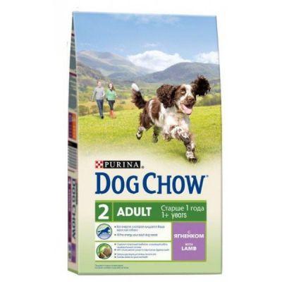 Сухой корм Dog Chow ADULT для взрослых собак ягненок 14кг (12260323)