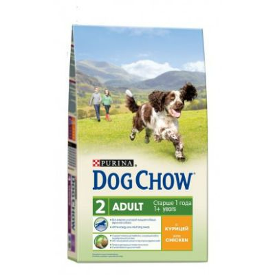Сухой корм Dog Chow ADULT для взрослых собак курица 14кг (12233255)