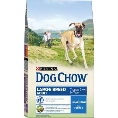 Сухой корм Dog Chow ADULT Large Breed для взрослых собак крупных пород с индейкой 2,5 кг (12233238)