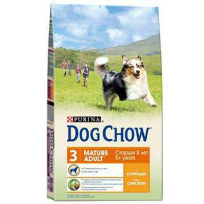 Сухой корм Dog Chow MATURE ADULT для взрослых собак курица 14 кг (12233253)