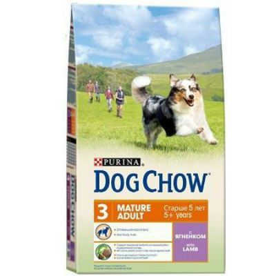 Сухой корм Dog Chow MATURE ADULT для взрослых собак ягненок 2,5кг (12233241)