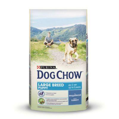 Сухой корм Dog Chow Puppy Large Breed для щенков крупных пород с индейкой 2,5 кг (12233239)