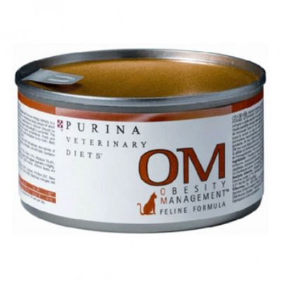 Консервы Purina OM для кошек при ожирении 195г. (упак. 24 шт.) (12223706)