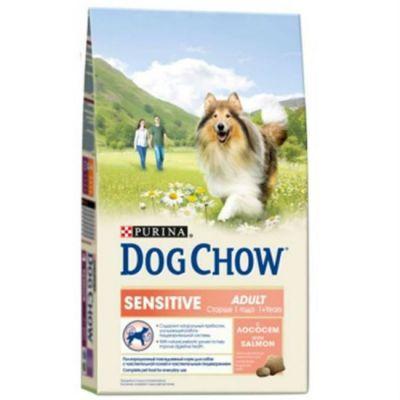 Сухой корм Dog Chow Sensitiv для собак чувствительным пищеварением лосось 800г (12277773)