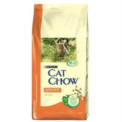 Сухой корм Cat Chow ADULT для взрослых кошек индейка/курица 15кг (12113366)