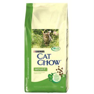 Сухой корм Cat Chow ADULT для взрослых кошек кролик/печень 15кг (12113367)