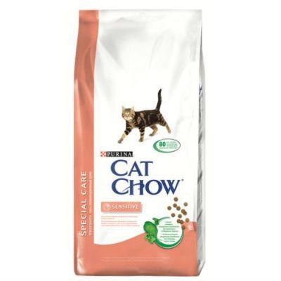 Сухой корм Cat Chow Special care для кошек с чувствительным пищеварением и чувствительной кожей 1.5кг (12123733)