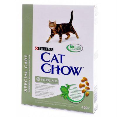 ����� ���� Cat Chow STERILISED ��� �������������� ����� � ��������������� ����� ���� 400� (12267405)