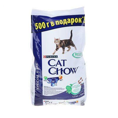 Сухой корм Cat Chow FELINE для кошек 3в1 2кг (12216156)