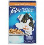 Паучи Felix для кошек кусочки в желе индейка 85г (упак. 24 шт) (12114150)
