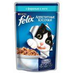 Паучи Felix для кошек кусочки в желе форель 85г (упак. 24 шт) (12220055)