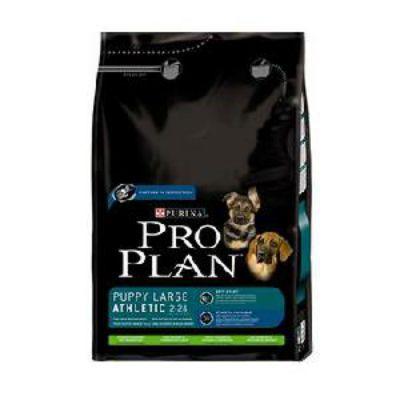 Сухой корм Proplan Puppy Athletic для щенков крупных пород ягненок/рис 3кг (12150305)