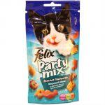 Сухой корм Felix для кошек Party Mix Морской Микс 60г (упак. 8 шт) (12234058)