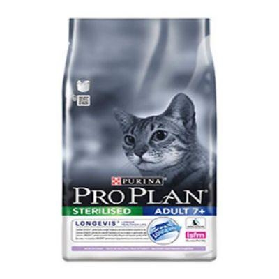 Сухой корм Proplan для стерилизованных кошек и кастрированных котов старше 7 лет индейка 1,5кг (12263291)