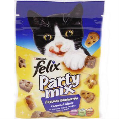 Сухой корм Felix для кошек Party Mix Сырный Микс 20г (упак. 15 шт) (12237742)