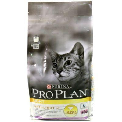 Сухой корм Proplan Light для кошек индейка/рис 1,5 кг (12066154)