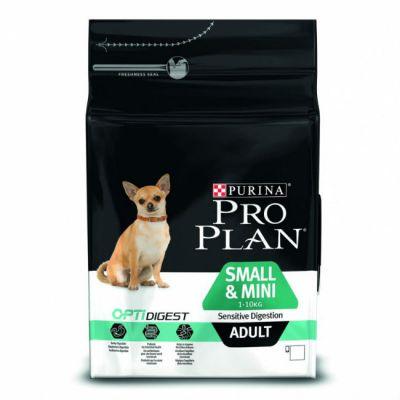 Сухой корм Proplan для взрослых собак мелких пород с чувствительным пищеварением ягненок/рис 3кг (12278062)
