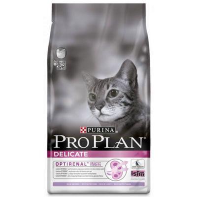 Сухой корм Proplan для кошек с чувствительной кожей и пищеварением индейка/рис 3 кг (5114961)