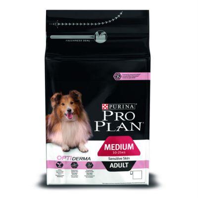 Сухой корм Proplan для средних взрослых собак с чувствительной кожей лосось 1,5кг (12272386)