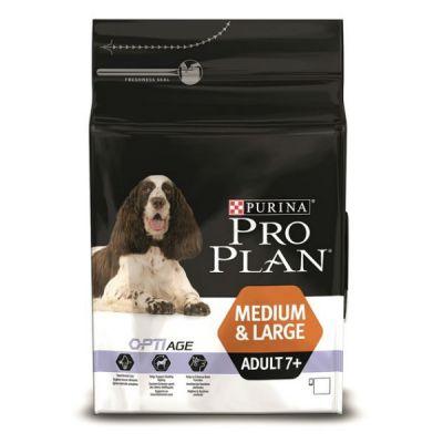 Сухой корм Proplan для собак средних и больших взрослых старше 7 лет курица 14кг (12272557)
