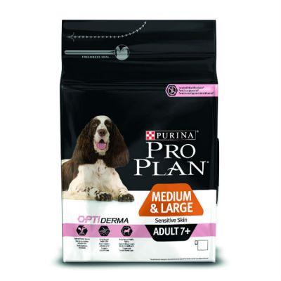 Сухой корм Proplan для собак средних и больших старше 7 лет с чувствительной кожей лосось 14кг (12272547)
