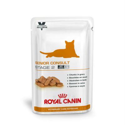 Паучи Royal Canin Senior Consult Stage 2 для пожилых кошек в возрасте старше 10 лет 100г