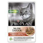 Паучи Proplan STERILISED Nutrisavour для стерилизованных кошек и кастрированных котов с говядиной в соусе 85г (упак. 24 шт) (12249441)