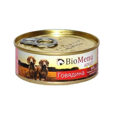 Консервы Biomenu adult для взрослых собак говядина 100г