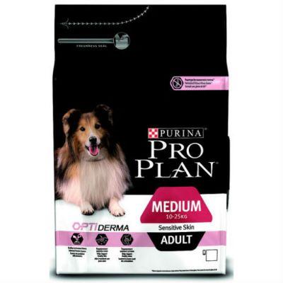 Сухой корм Proplan для взрослых собак средних пород с чувствительной кожей лосось/рис 7кг (12272563)