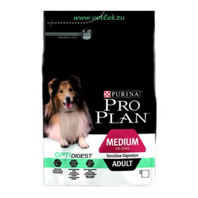Сухой корм Proplan для взрослых собак средних пород с чувствительным пищеварением 1,5кг (12278110)