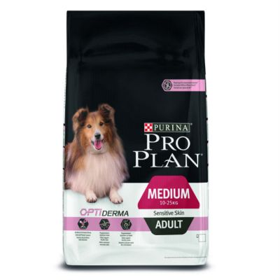Сухой корм Proplan для взрослых собак с чувствительным пищеварением лосось/рис 7,5 кг (12150404)