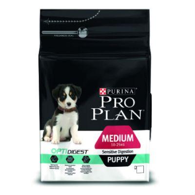 Сухой корм Proplan для средних щенков с чувствительным пищеварением ягненок 12кг (12278095)