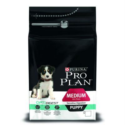 Сухой корм Proplan для средних щенков с чувствительным пищеварением ягненок/рис 1,5кг (12278111)