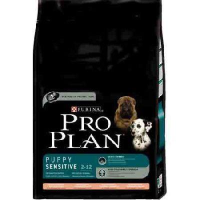 Сухой корм Proplan для щенков с чувствительным пищеварением лосось/рис 14 кг (12150564)
