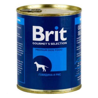 Консервы Brit для собак говядина/рис 850г 10472