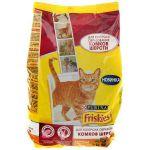 Сухой корм Friskies HAIRBALL для кошек против комков шерсти курица/овощи 1,5кг (12261250)
