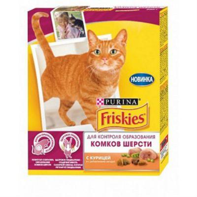 Сухой корм Friskies HAIRBALL для кошек против комков шерсти курица/овощи 300г (12261251)