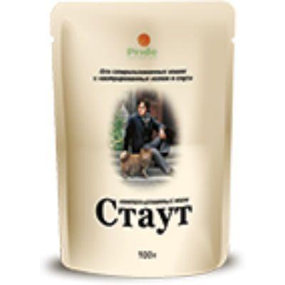 Паучи Стаут для взрослых кошек ,для стерилизованных кошек и кастрированных котов в соусе 100 гр (упак. 24 шт.)