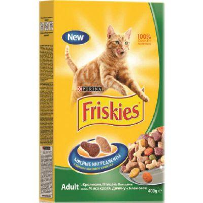 Сухой корм Friskies для кошек Кролик/Птица/Овощи 400г (12152610)